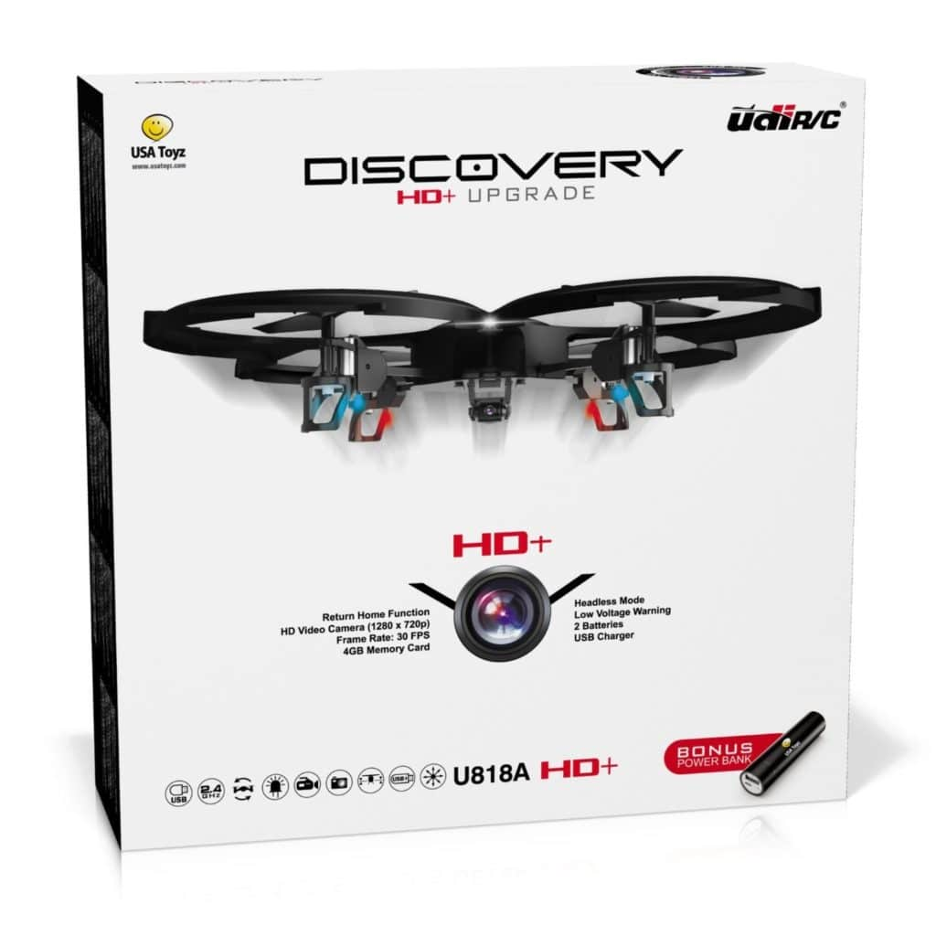 UDI U818A HD+ Drone with Camera and Headless Mode | 2.4Ghz RC Camera Drone Quadcopter