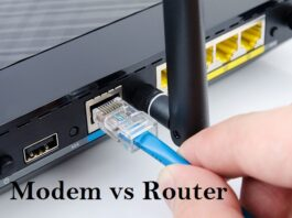 difference between a modem and a router