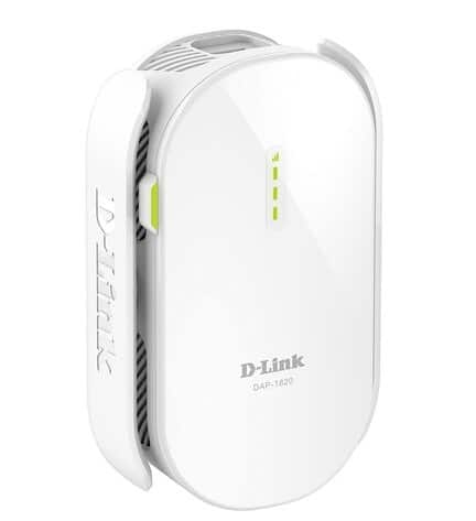 D-Link WiFi Range Extender Plug EXO Mesh AC2000 Dual Band Wireless or Ethernet Port (DAP-1820-US)